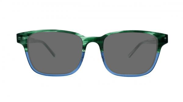 Gafas de sol verdes y azules