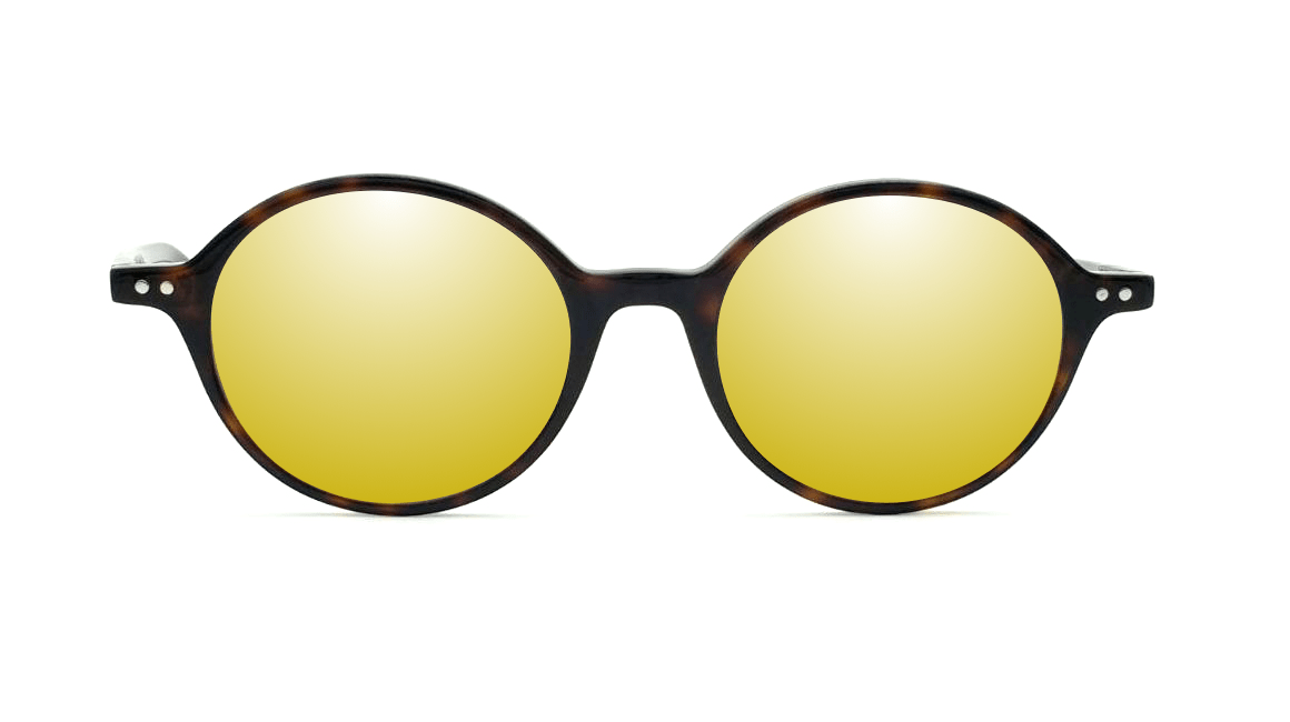 96e125e565 Gafas de sol graduadas espejo dorado | Ralph & Marth - Gafas graduadas de  sol online