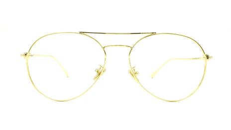 gafas graduadas online de aviador unisex en color dorado