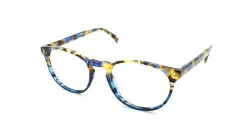 Gafas graduadas azules redondas de acetato