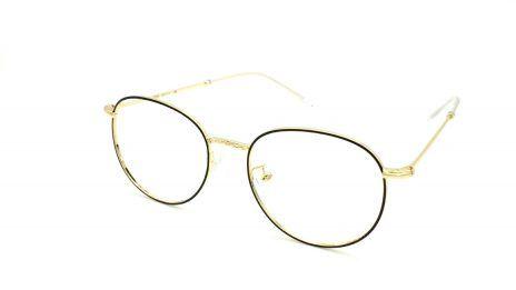 Gafas graduadas redondas de metal doradas