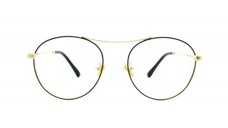 Gafas graduadas metal doradas redondas