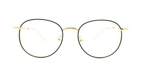 Gafas metal redondas doradas
