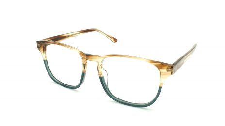 Gafas graduadas de hombre color verde y marrón de acetato