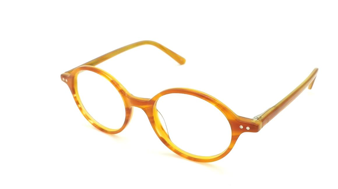 Gafas graduadas redondas de pasta color miel