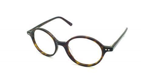 Gafas graduadas redondas de pasta color carey