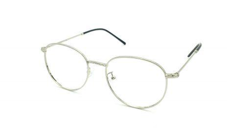 Gafas graduadas de metal redondas color plata unisex