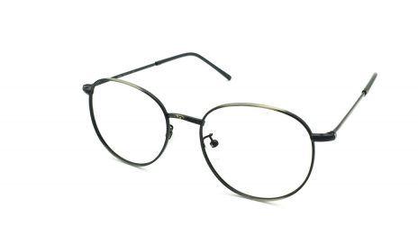 Gafas graduadas de metal color plomo unisex