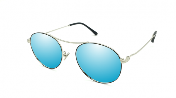 Luciano Silver Blue Mirror