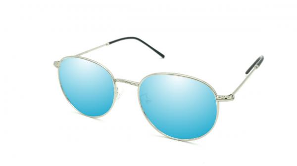 Enzo Silver Blue Mirror